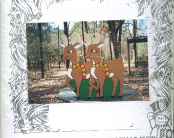 Yard Art for Christmas 2 Reindeer Pattern 37 x 35 REDUCED PRICE!
