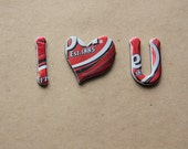 Recycled Magnetic Love - Magnet Letters from Dr. Pepper Can
