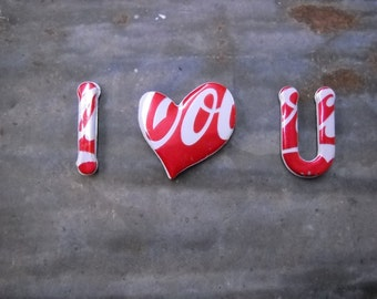 Recycled  Magnetic  Love  Message   With Coke