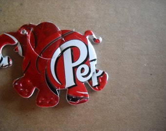 Dr. Pepper Recycled Can Elephant Magnet