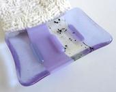 Soap Dish in Lavender Glass