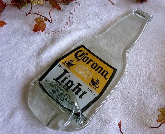 Corona beer bottle spoonrest or plate
