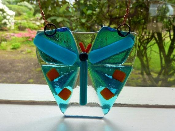 Glass Butterfly Sun Catcher
