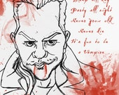 Kiefer Sutherland from The Lost Boys movie caricature