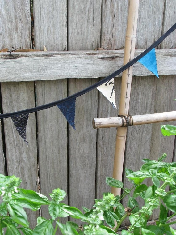 SALE Blue Zen - simple bunting flags / garland / banner - 1.5 metres or 1.6 yards, was 18.00 now 9.00