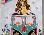 Petite fille Hippie