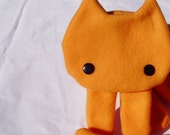 Orange Kitty Scarf with Black Eyes