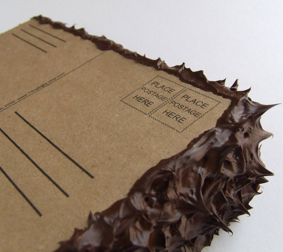 Postcard cake -mailed for you- free to ship in the US.