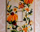 light switch Daisy handpainted with Acrylic