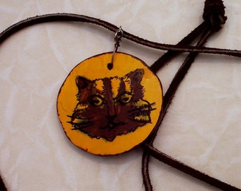 Gourd Tom Cat necklace