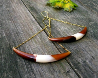 Little Big Horns.. Vintage Horn Earrings
