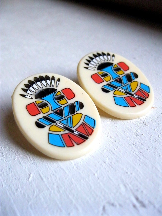 Hopi Kachina Stud Earrings