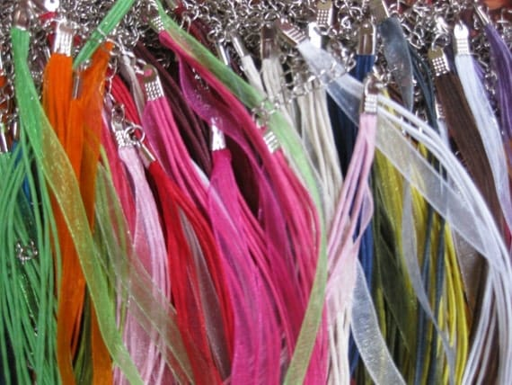 Ten TRY ME Pack of Ribbon and Cord Necklaces in a Variety of Colors - Welcome to Studio66