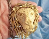 Vintage Luke Razza Astrological Zodiac Leo Lion Pendant Chain Necklace - Jul 23rd to Aug 22nd