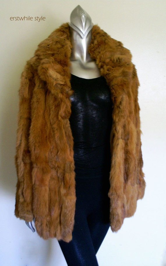1980s Punk Rabbit Fur Coat SM/MED