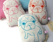 Cuddly Fabric Pug Plush - Hattie Design in Pink