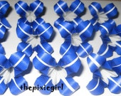 ORIGAMI PAPER HANDMADE 12 Medium Royal Blue Iris Folded Flowers Wedding Anniversary Gift table Decorations