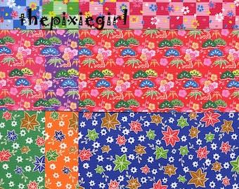JAPANESE ORIGAMI PAPER Shibori Hana Flower Floral Chiyogami Beautiful Prints 36 Sheets