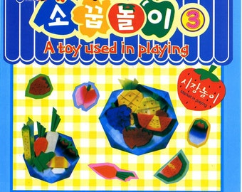 ORIGAMI PAPER FOOD Fruits and Veggie Market Folding Set Very Cute
