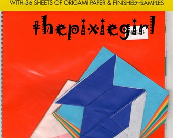 JAPANESE ORIGAMI PAPER With Models Diagrams 2 Sizes 36 Sheets