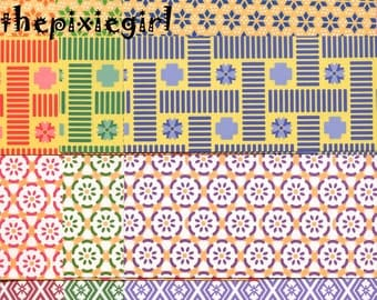 JAPANESE ORIGAMI PAPER Traditional Komon Chiyogami Print Pattern 48 Sheets