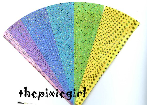 ORIGAMI PAPER 3D STAR KIT SHINY TWINKLING DOT HOLOGRAM 60 STRIPS