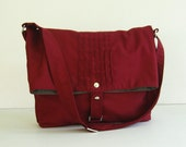 Sale - Maroon Cotton Twill Bag, purse, tote, shoulder bag, messenger, unique, stylish - Fiona