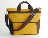 Add 1 more get 10% off - Mustard Yellow Cotton Twill Bag - Kelly