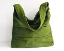 Sale - Forest Green Twisted Hemp/Cotton Bag, shoulder bag, tote, purse, handbag, unique, stylish, messenger bag - Lisa