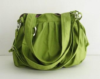 Sale - Pear Canvas Pumpkin Bag, handbag, shoulder, messenger, stylish, tote, hobo, purse