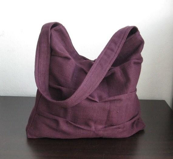 Deep Purple Twisted Hemp\/Cotton Bag