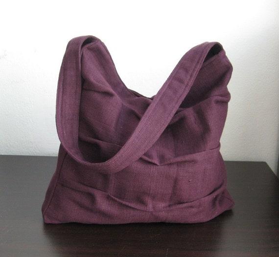 Deep Purple Twisted Hemp/Cotton Bag