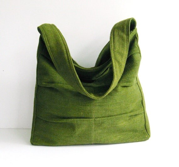 Sale - Forest Green Twisted Hemp/Cotton Bag, shoulder bag, tote, purse, handbag, unique, stylish, messenger bag - Lisa