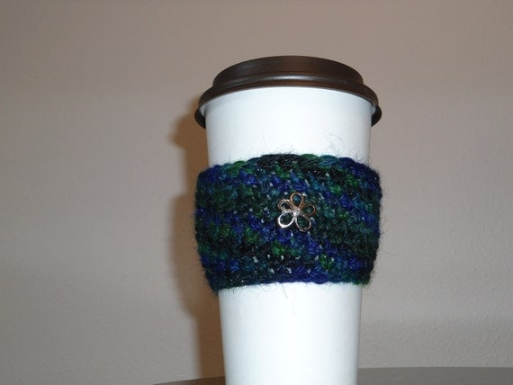 Midnight Sparkle Flower Cup Cozy