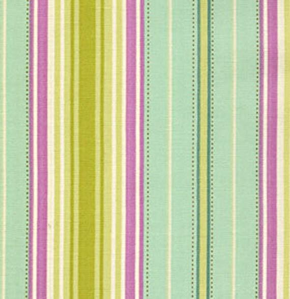 FreeSpirit Fabric 1 yard 'Fresh Cut' by Heather Bailey 1586-440 Lounge Stripe Lime