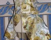 Victorian Style corset peplum in flower fabric.