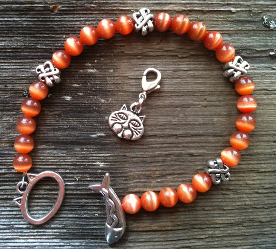 Cat Lovers Bracelet Burnt Sienna Sky MEOW Calorie or Points Counter Weight Loss Tracker