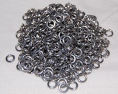 0.5 oz Bright Aluminum Jump Rings - 18g 1\/8 - Saw Cut