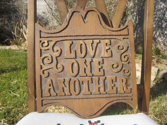 Love One Another wood plaque