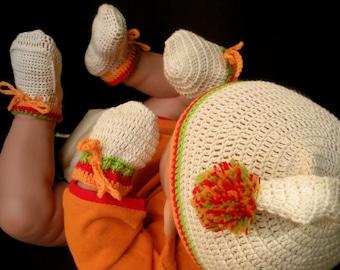 Let's Go Retro Organic Cotton - 3 pieces Crochet Accessories Set