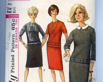 60s Pattern Vintage MOD Scooter Dress Simplicity 6161