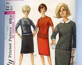 60s Pattern Vintage MOD Scooter Dress Simplicity 6161