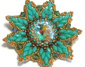 FLORINA Pendant Exclusively PDF Beading tutorial with SuperDuo for personal use only