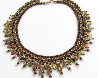FOLIA Beadwork Necklace tutorial instructions for personal use only