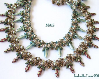 MAG Necklace Beadwork Exclusively PDF Beading tutorial for personal use only