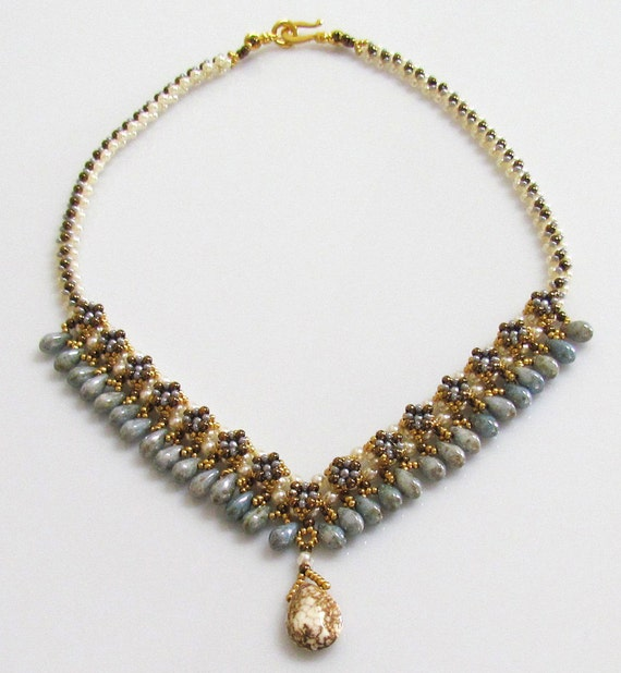 DRIPSTONE Necklace Exclusively PDF Necklace Beading tutorial for personal use only