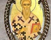 Saint Cyprian of Carthage Frame Pendant
