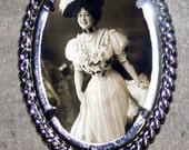 Victorian Corset Fashion Frame Pendant