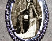 Ziegfeld Follies Pin Up Girl Frame Pendant