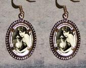 Ziegfeld Follies Crystal Ball Gypsy Oval Frame Earrings